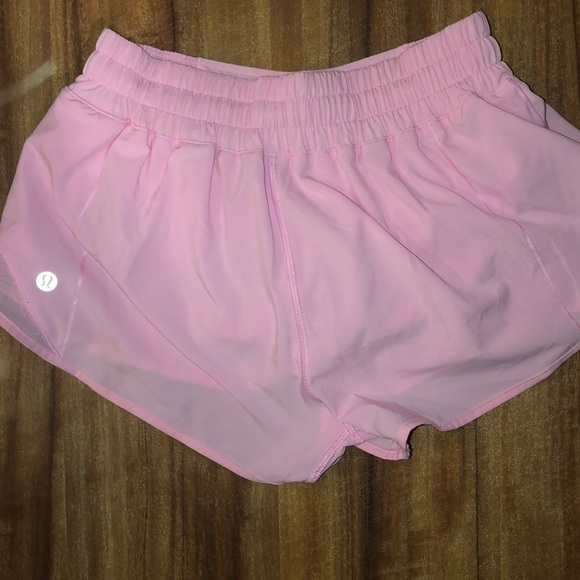 Lululemon Athletica Shorts Lululemon Light Pink Hotty Hot 25 Poshmark